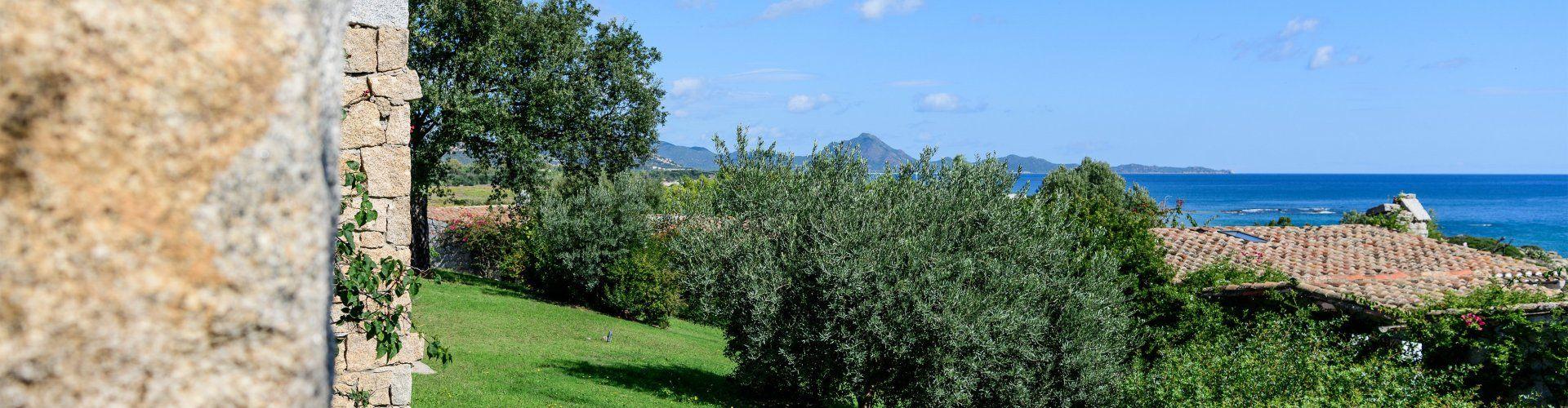 Gepflegter Garten mit Meerblick
