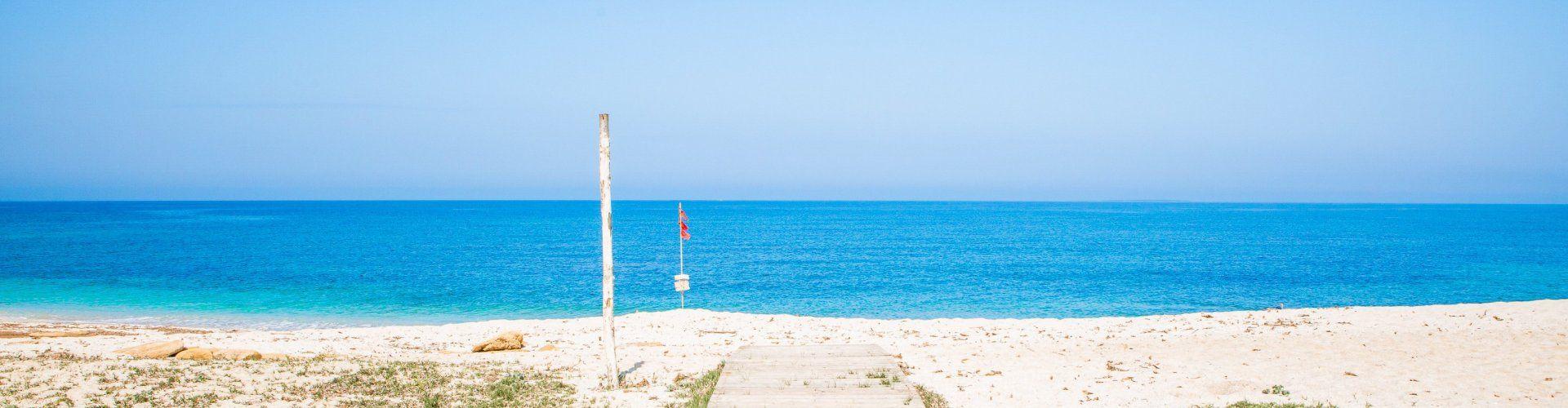 Weg zum Strand Is Arutas