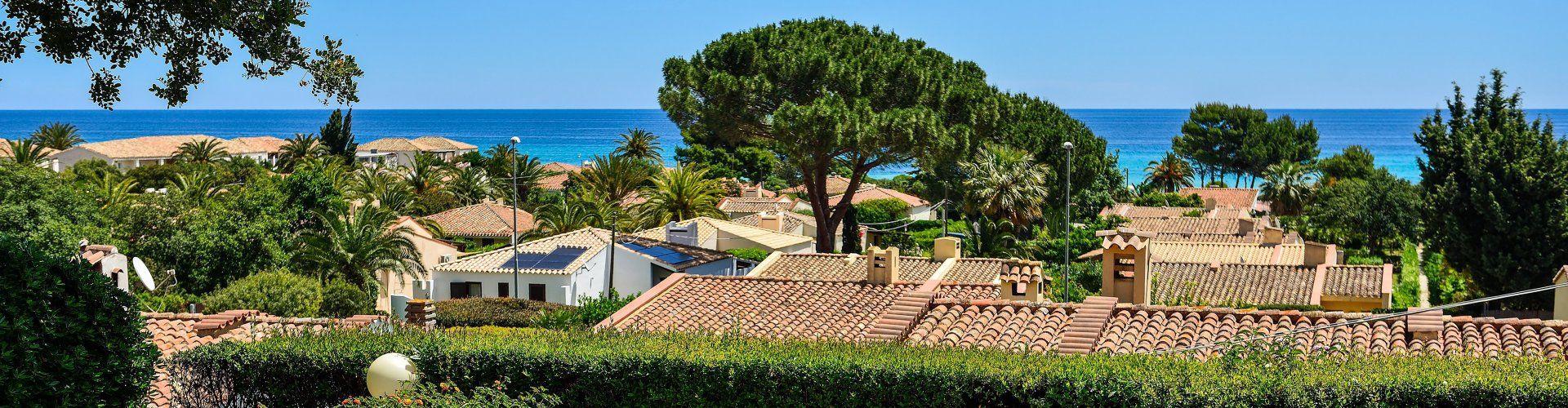 Meerblick vom Garten an der Costa Rei