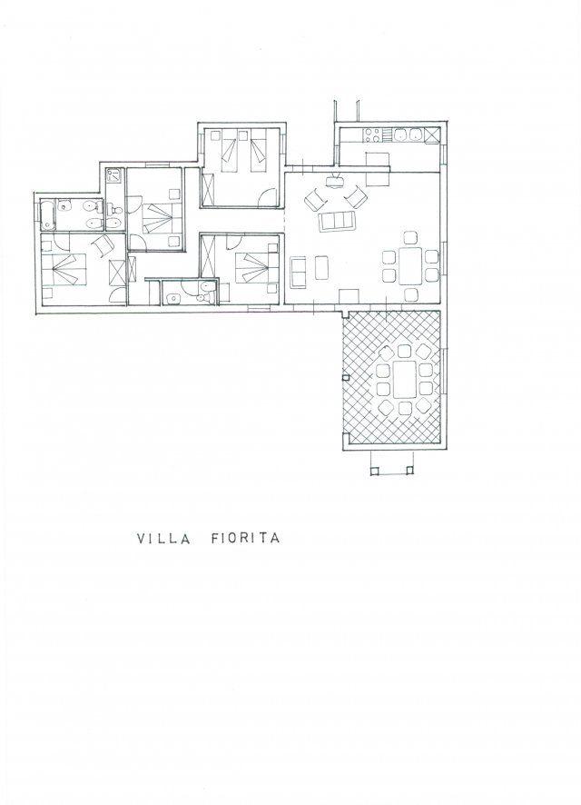 Grundriss von Villa Fiorita