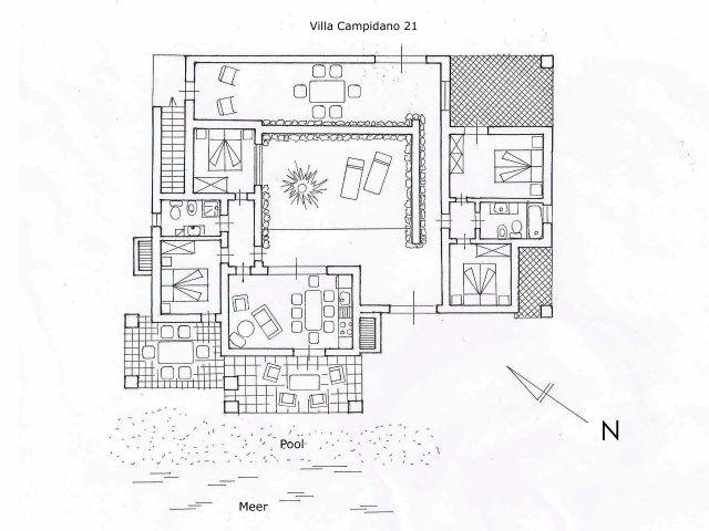 Grundriss Villa Campidano 21