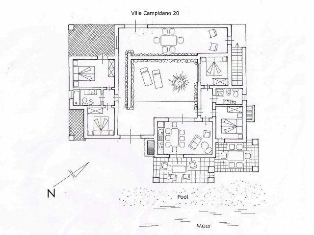 Grundriss Villa Campidano 20
