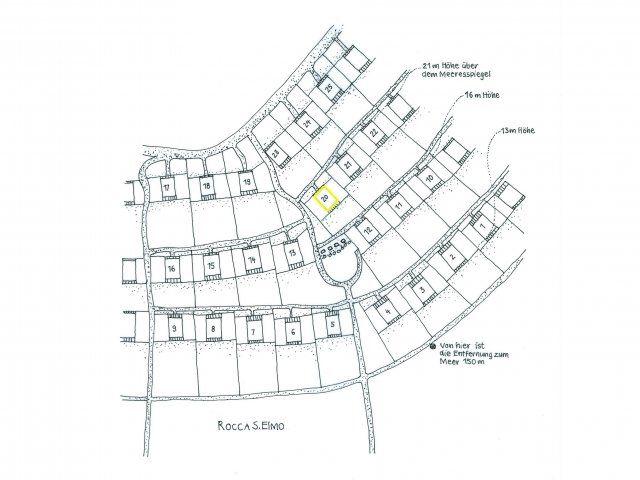 Lageplan der Ferienhauslage im Condominium Sant Elmo