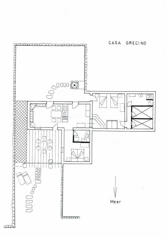 Grundriss Casa Grecino