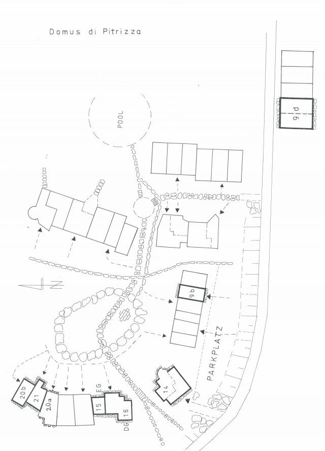 Lageplan Domus di Pitrizza