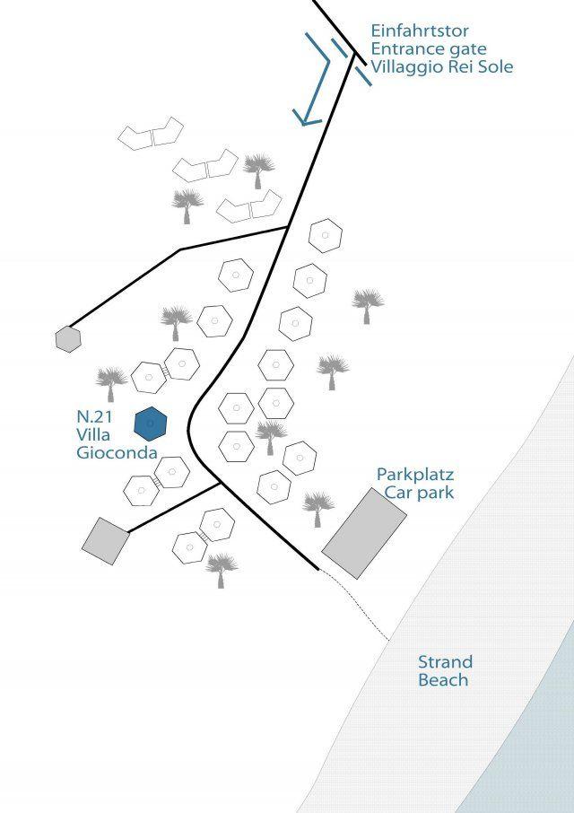 Lageplan der Villa