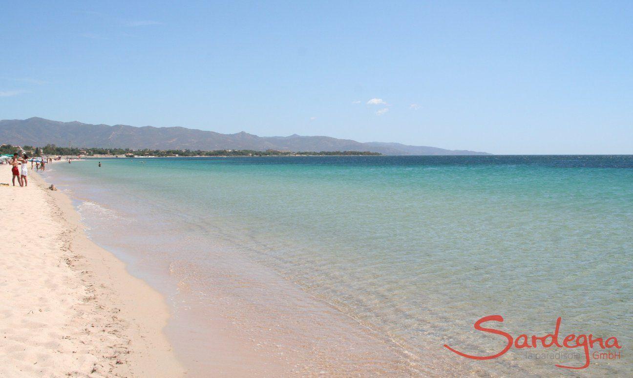 Poetto 9 km langer weißer Sandstrand direkt bei Cagliari