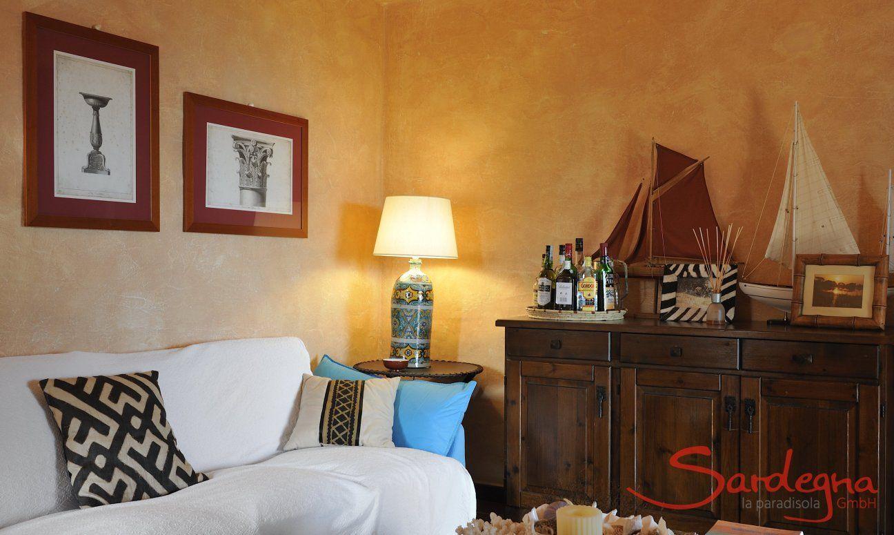 Wohnzimmer mit Dekoration