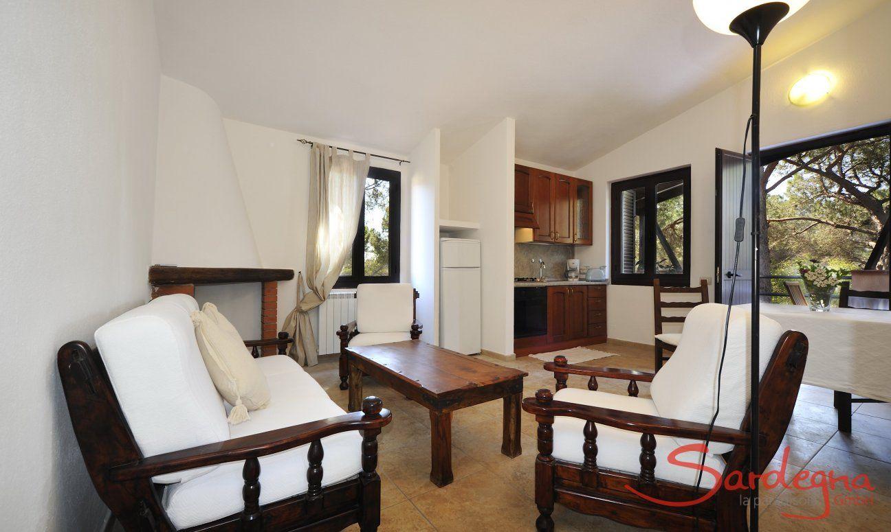 Wohnzimmer und Küchenecke