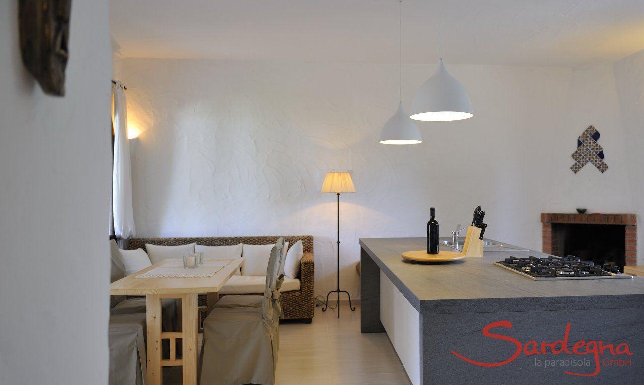 Küche und Wohnbereich der Villa ToreMari