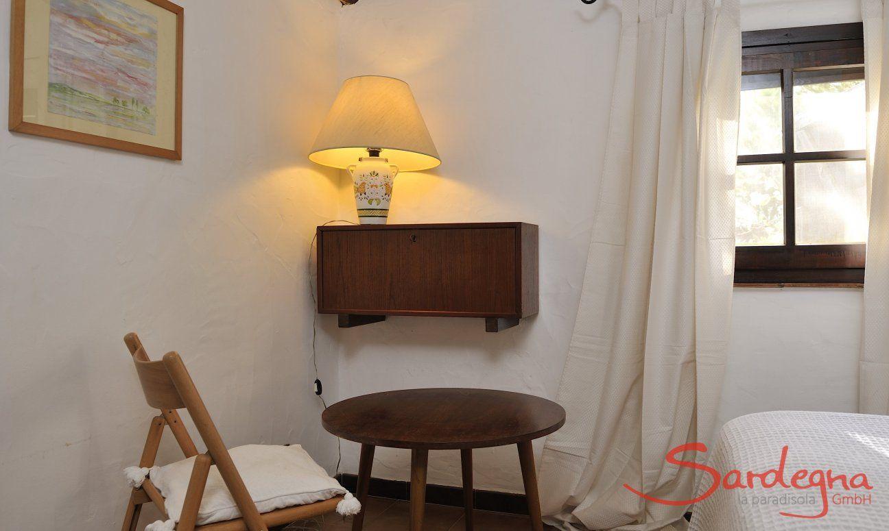 Schlafzimmer 1 mit sardischer Inneneinrichtung