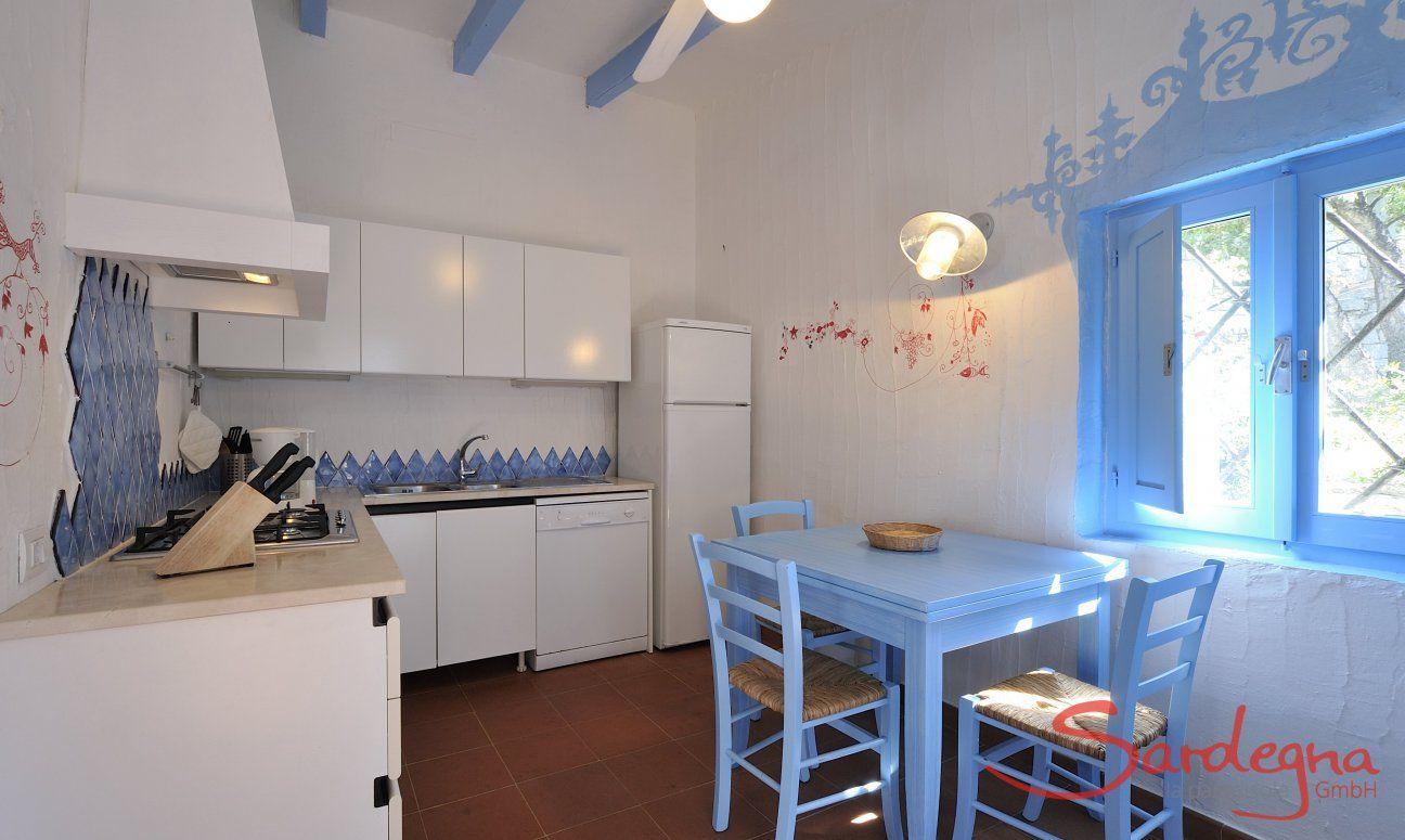 Vollausgestattete Küche mit kleinem Esstisch  Casa 20, Sant Elmo