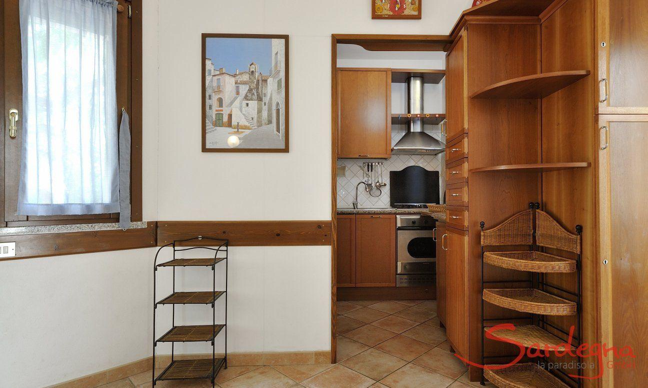 Küchenansicht aus dem Wohnzimmer
