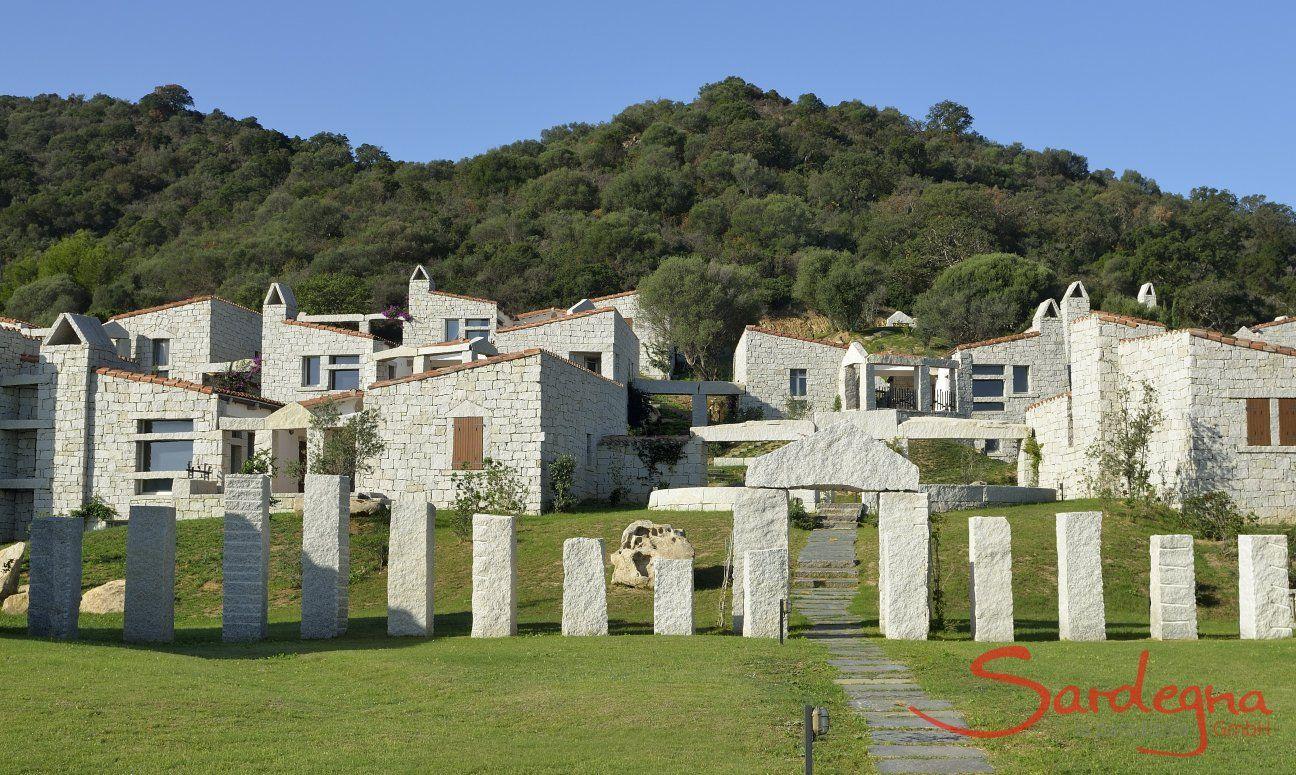 Die Anlage Li Conchi besteht aus Häusern aus Granit