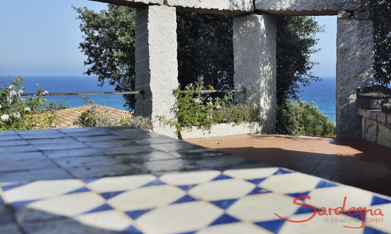 Terrasse Casa 23 mit direktem Meerblick