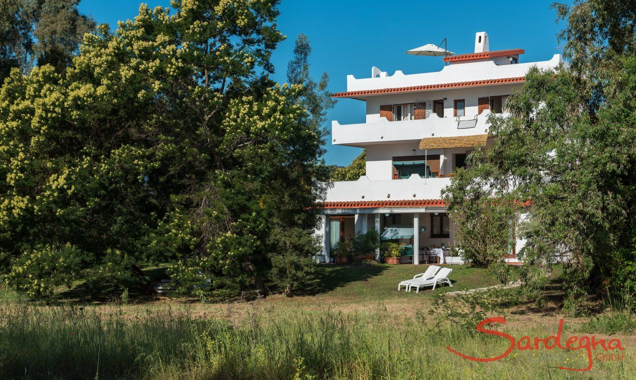 Ansicht der Villa Orrì