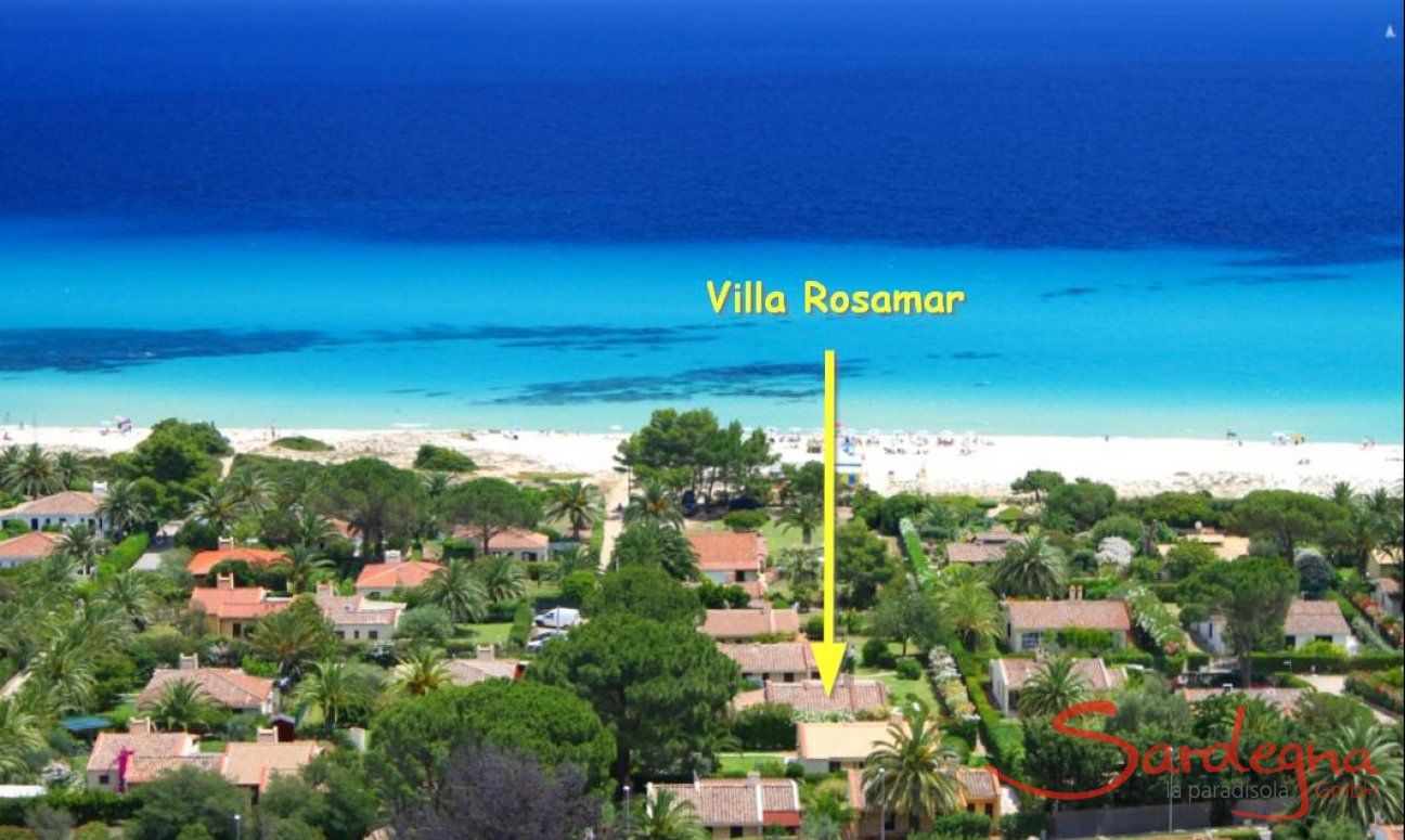 Lage Villa Rosamar an der Costa Rei