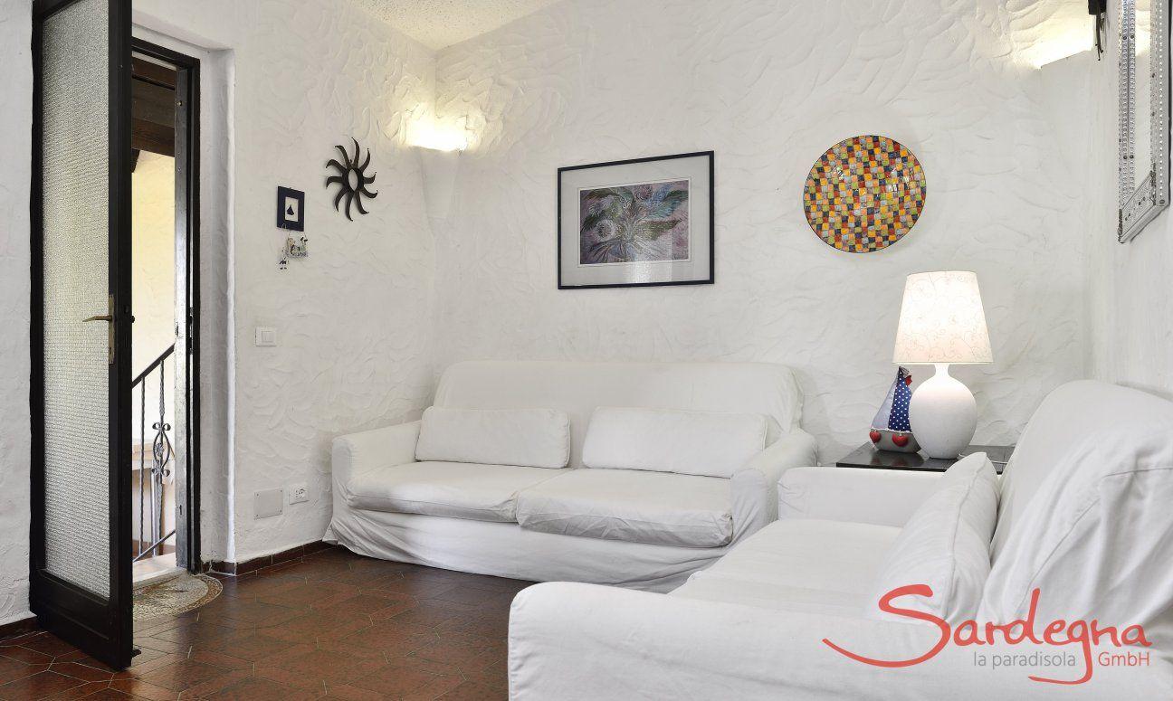 Helles Wohnzimmer mit Terrassenzugang  Villa Serena, Costa Rei