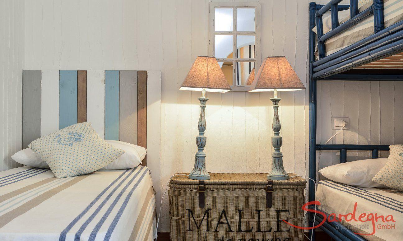 Schlafzimmer mit Hochbett und Einzelbett Li Conchi 9, Cala Sinzias