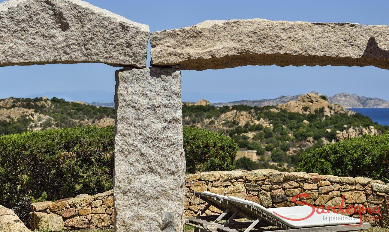 Blick von Domus di Pitrizza auf die Landschaft