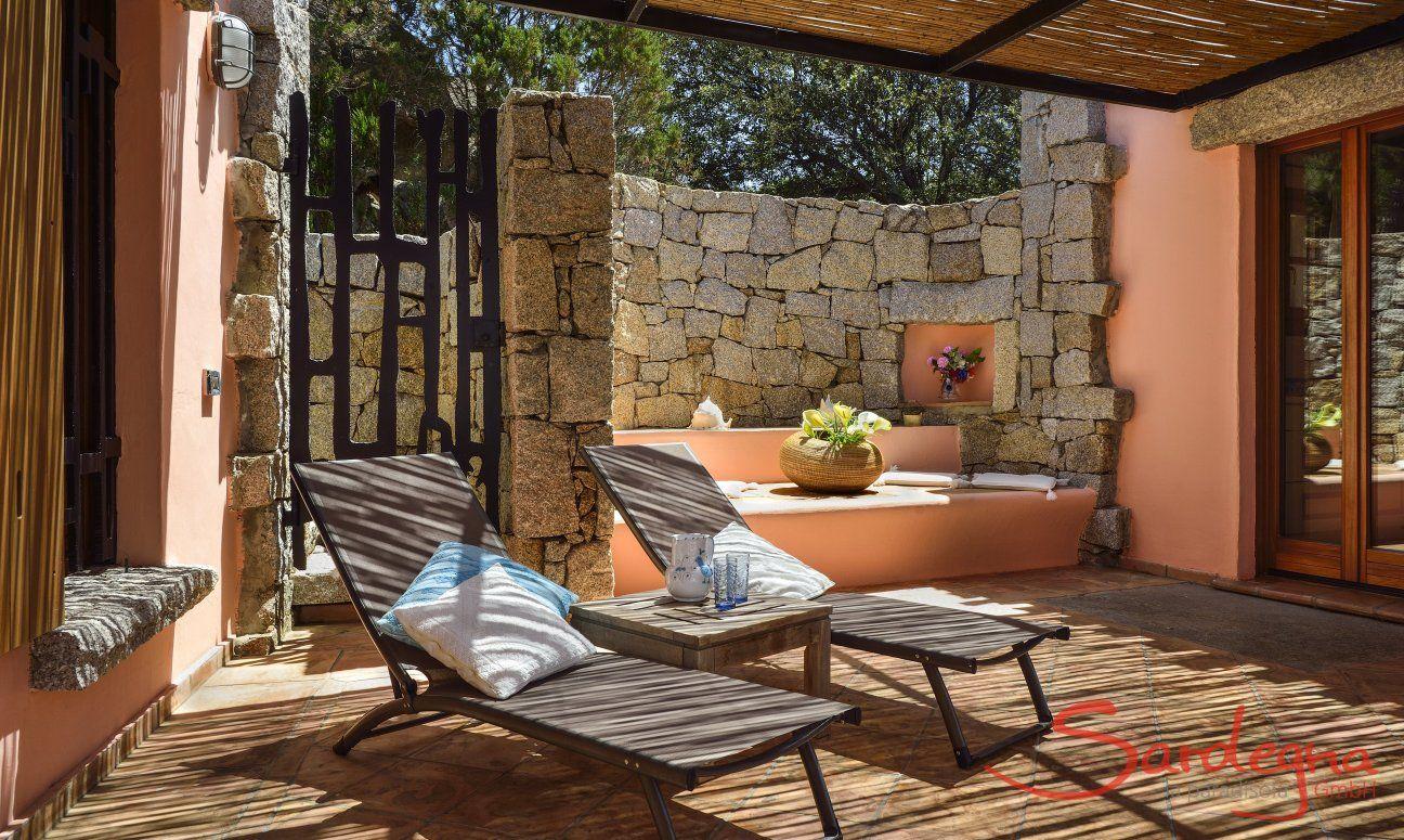 Lounge Bereich auf der Terrasse