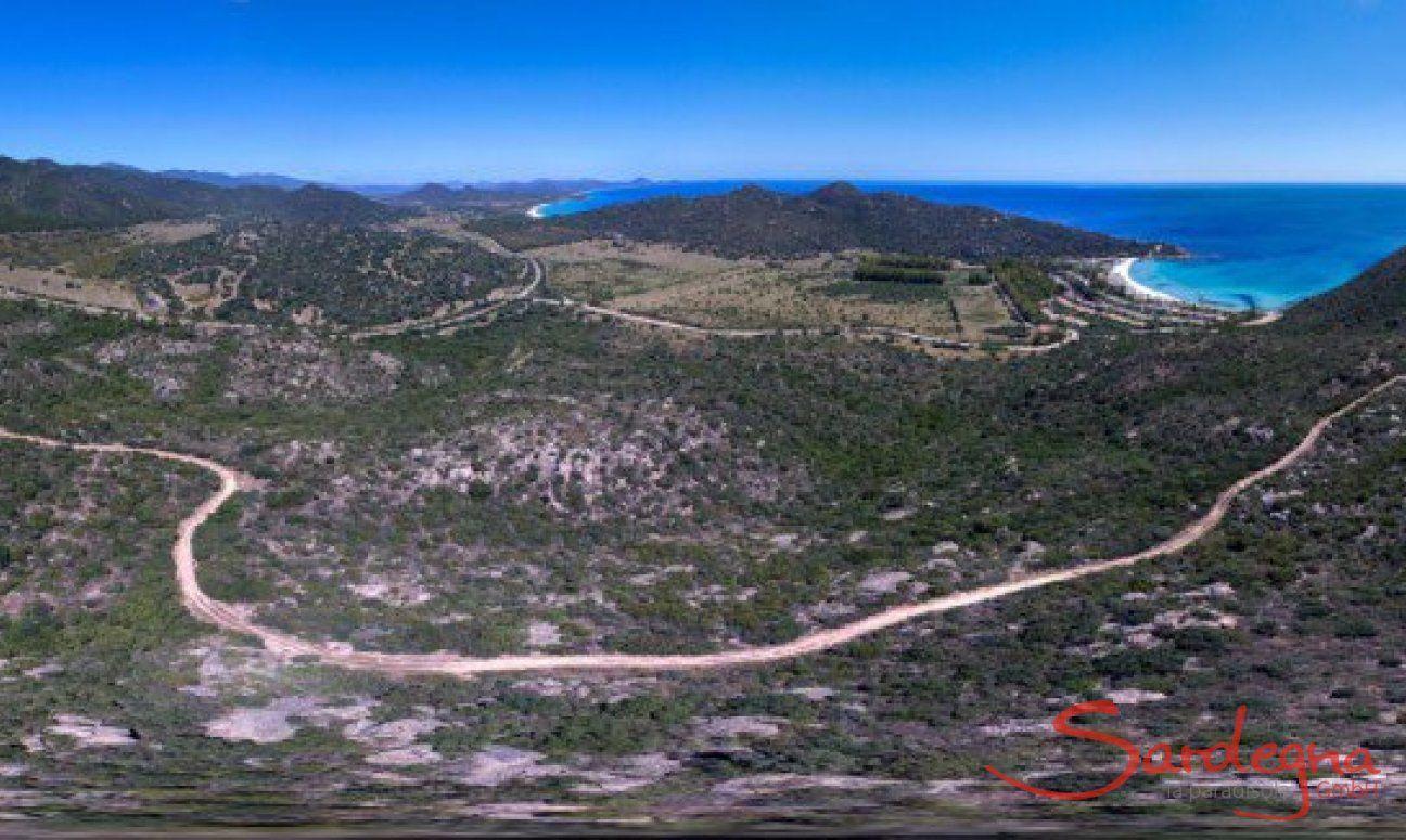Panorama 360° Costa Rei nach Villasimius