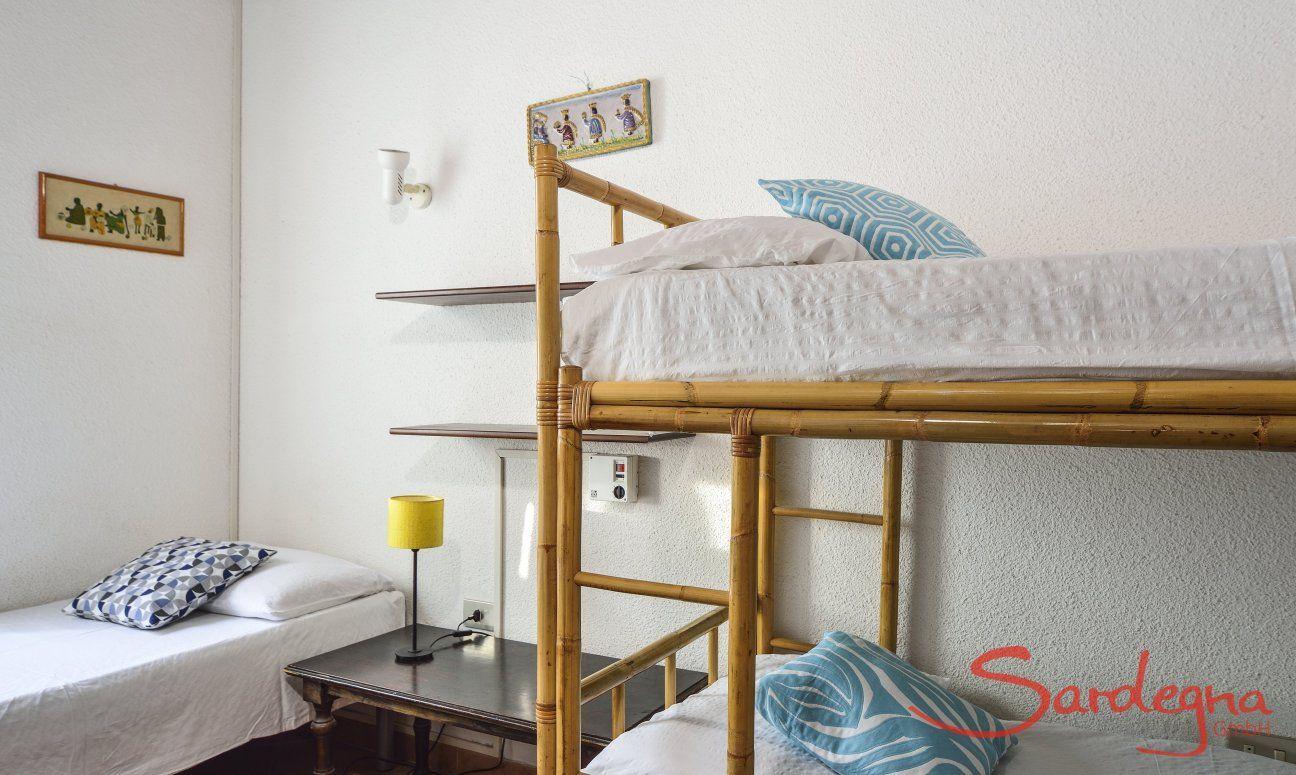 Schlafzimmer 4 mit Stockbett und Einzelbett