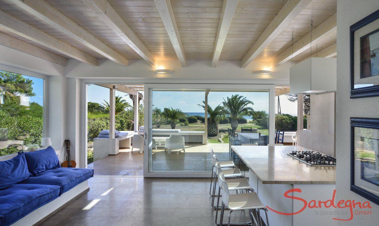 Cosa Rei, Strandhaus mit Meerlick