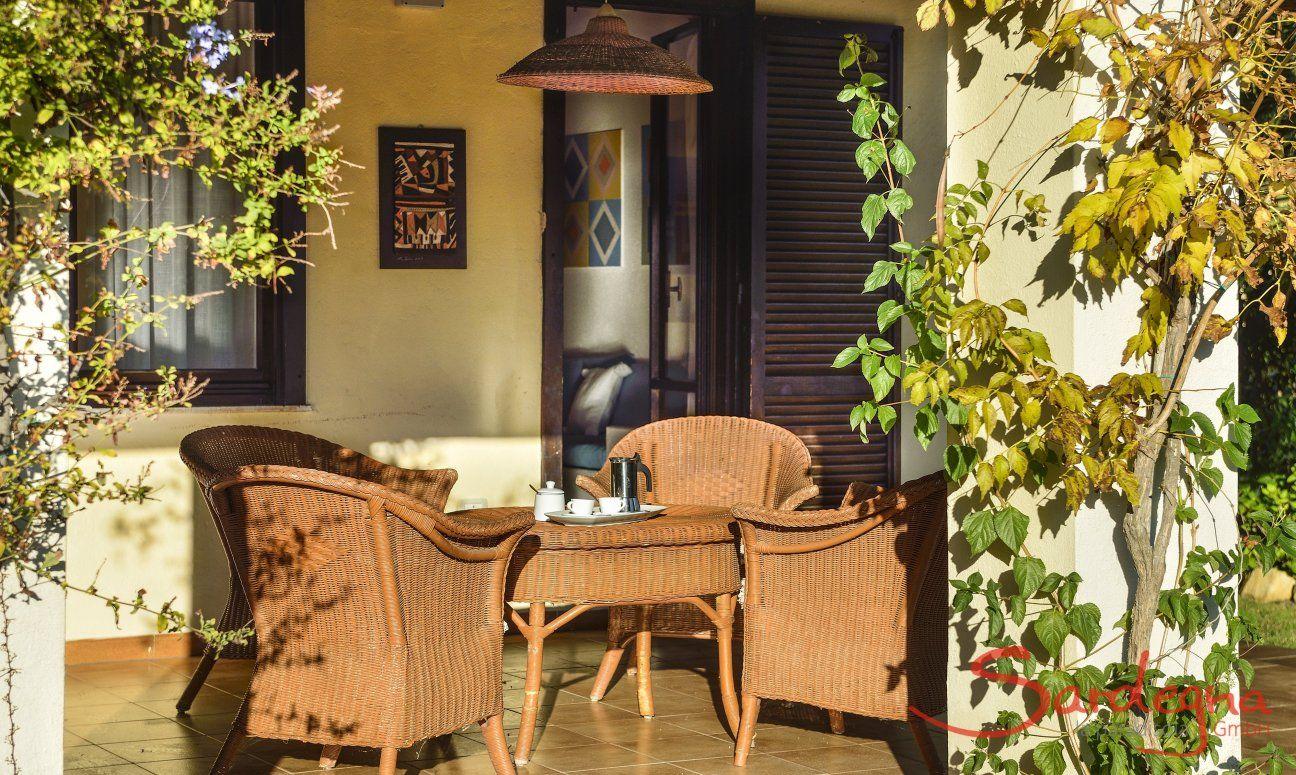 Sonnenplatz auf der Terrasse