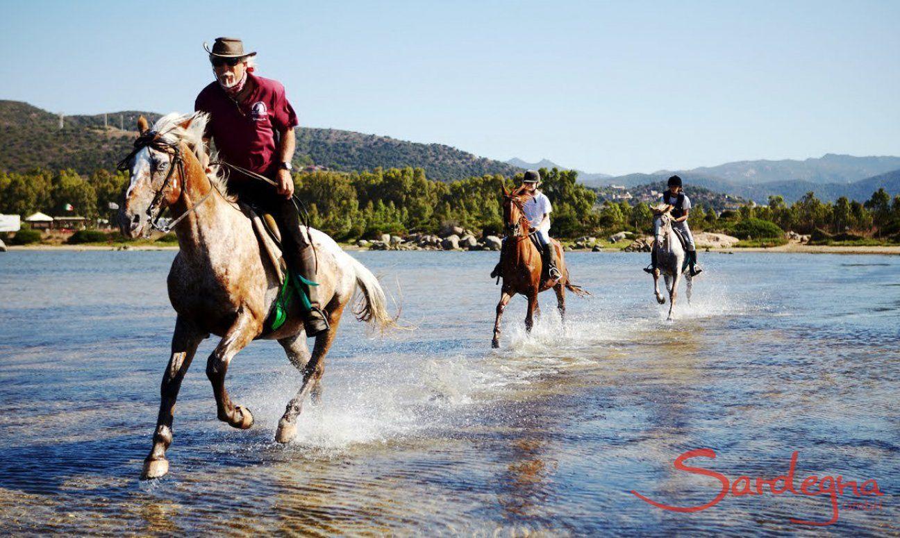 Chia | Ausritt mit Reitlehrer Giancarlo in der Lagune