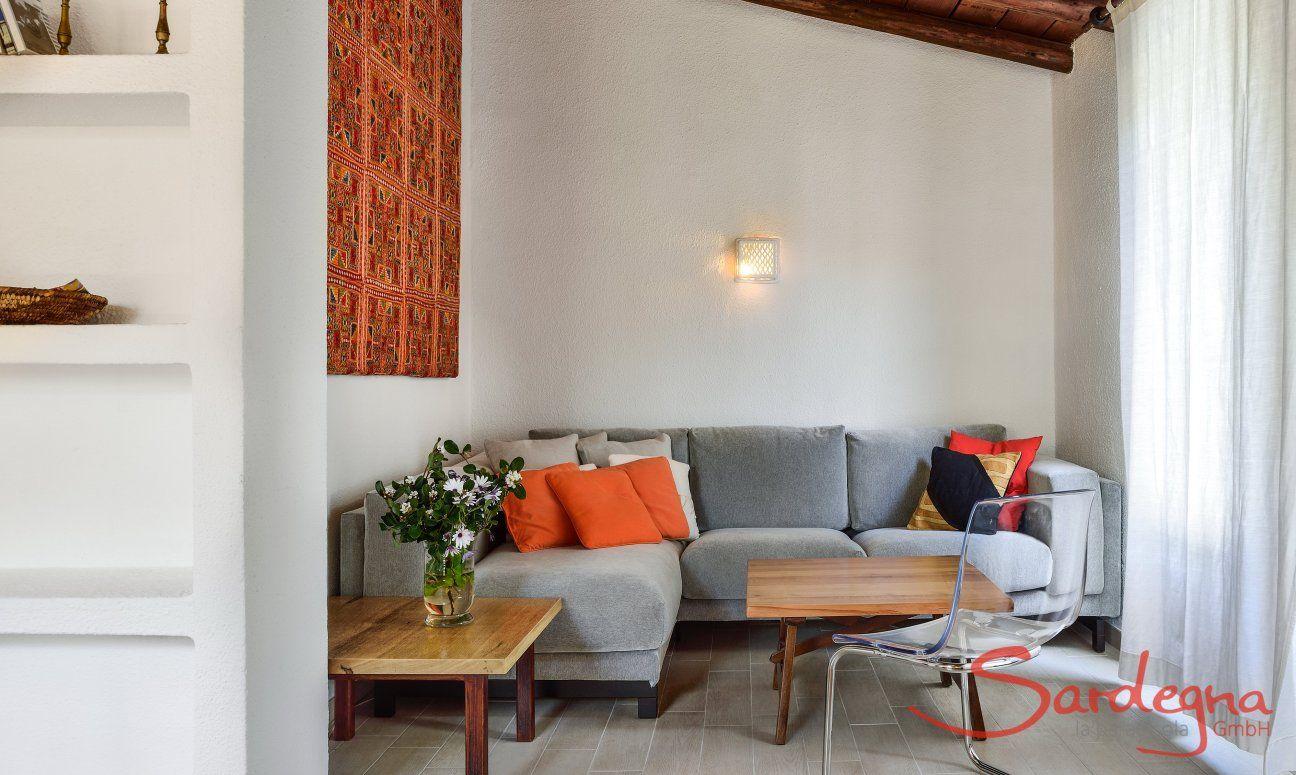 Wohnzimmer Sitzecke und TV