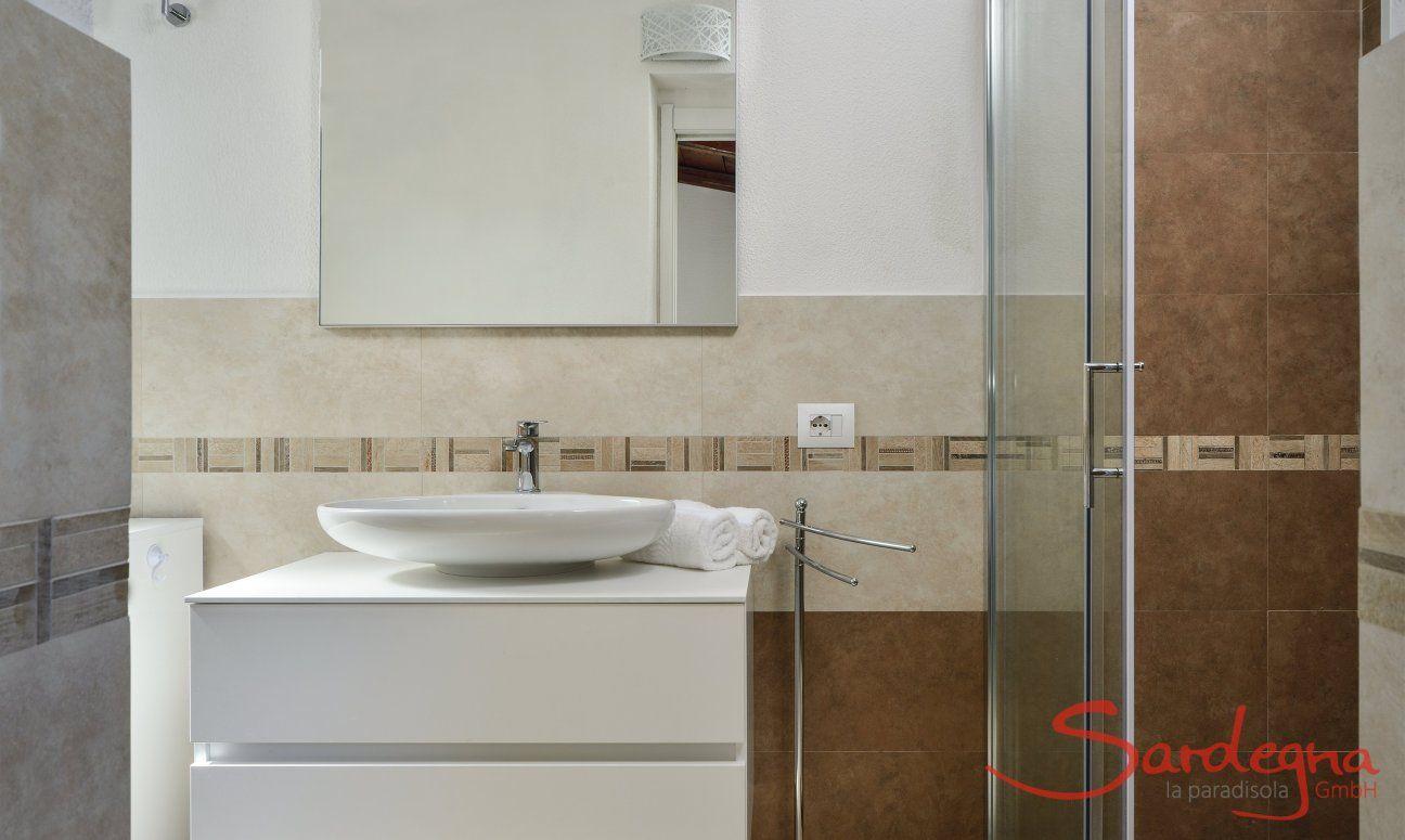 Modernes Duschbad 1 mit ebenerdiger Glasdusche