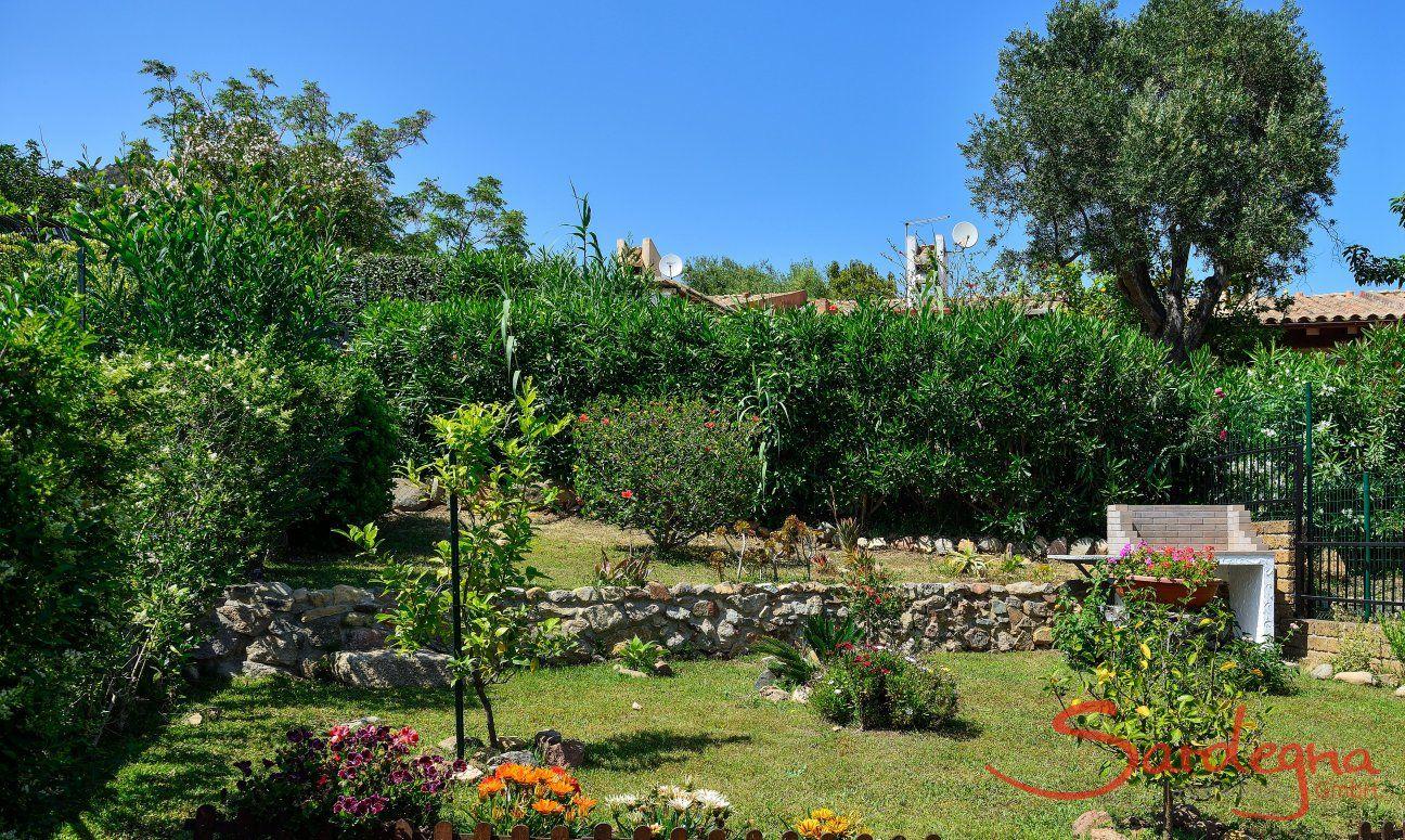 Schöner Garten der Villa Nicola
