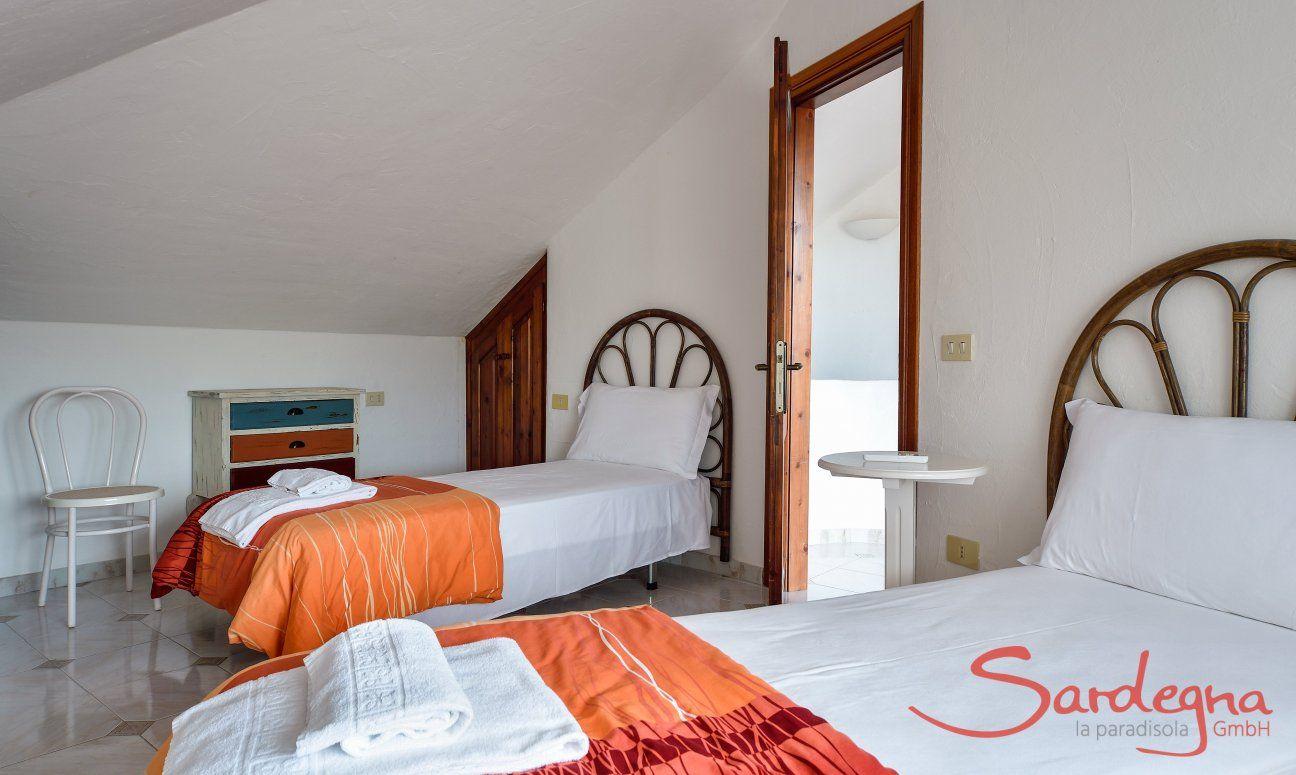 Schlafzimmer 4 mit Einzelbetten