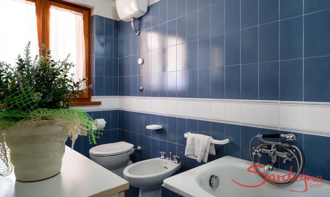 Modernes Tageslichtbad mit Badewanne und Bidet