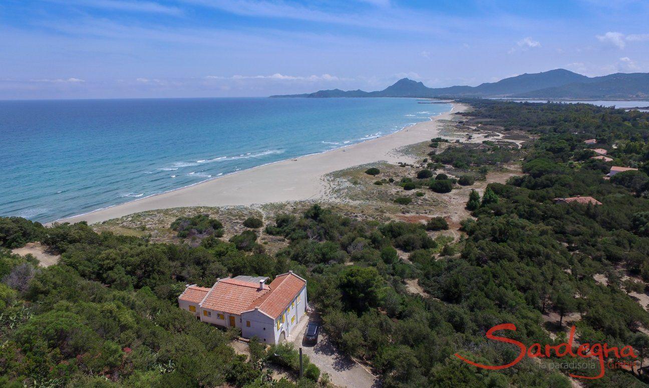 Villa Bau Cannas Luftaufnahmen