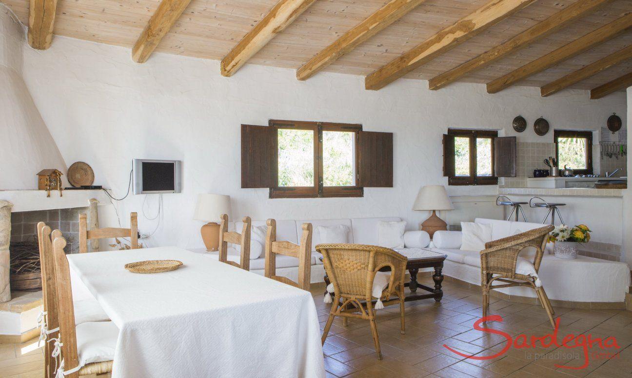 Wohnzimmer Villa Fiori 2, Monte Is Molas