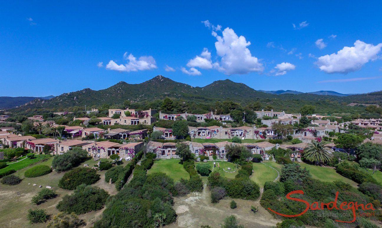 Luftansicht von Sant Elmo in Sardinien