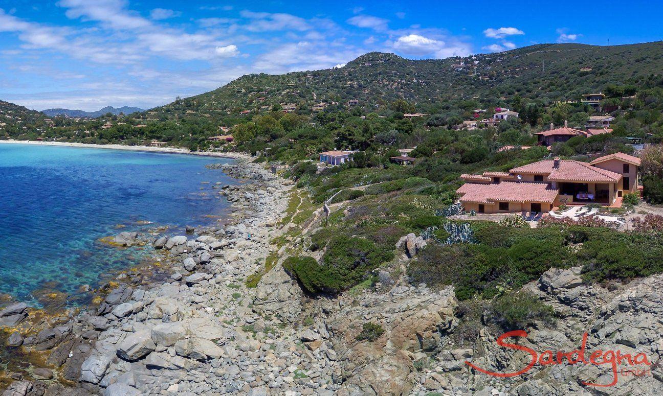 Luftansicht Villa delle Stelle und der Umgebung