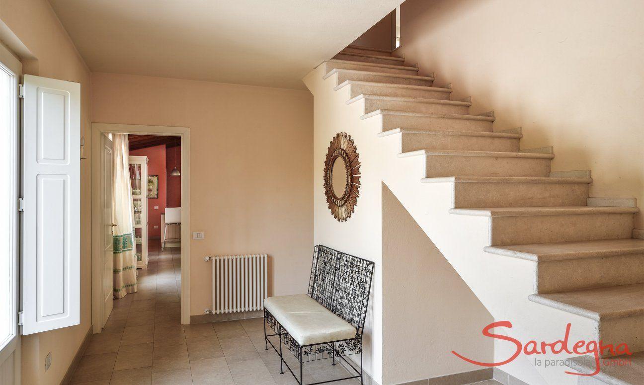 Treppe zum ersten Stock