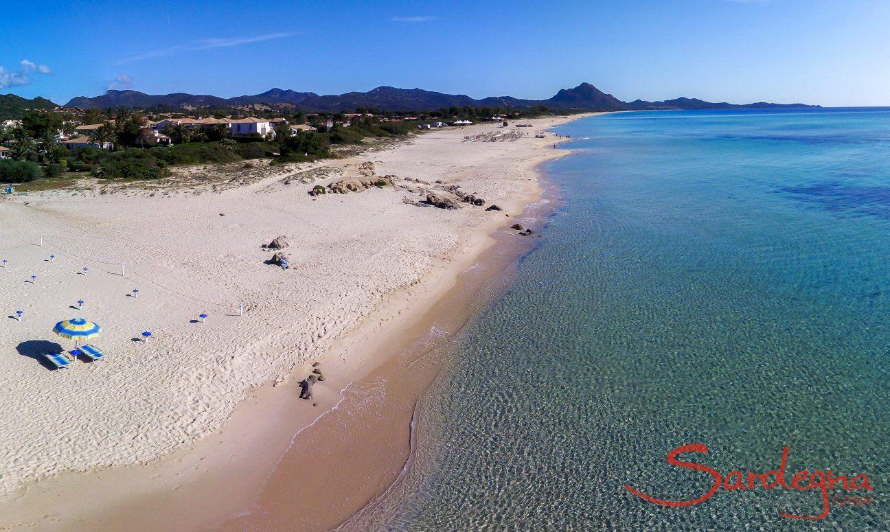 Luftansicht Strand der Costa Rei