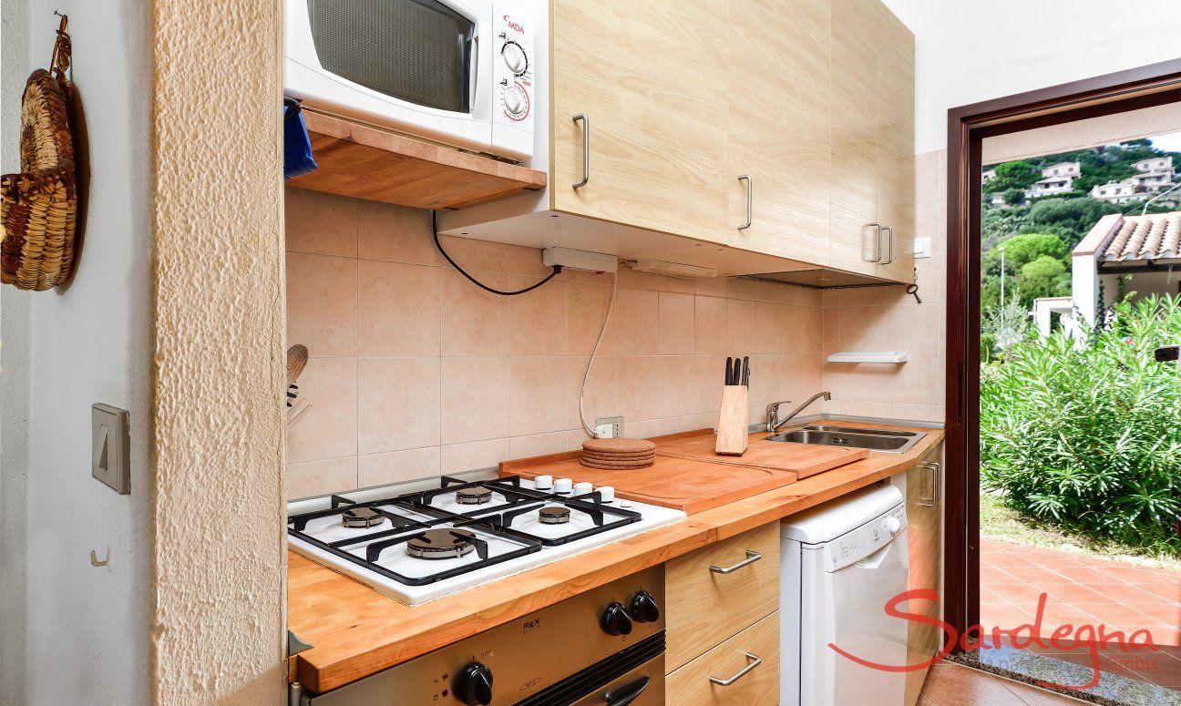 Küche mit Gartenzugang