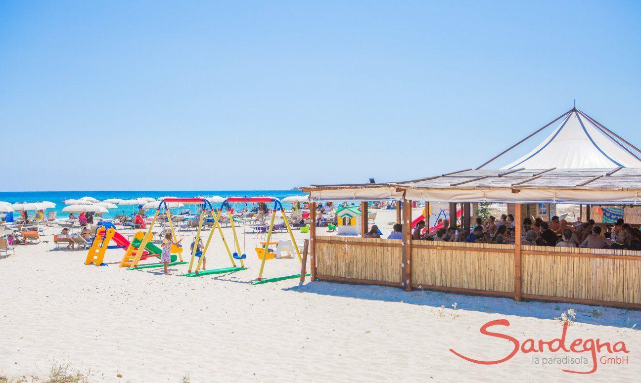 Strandbar an der Costa Rei