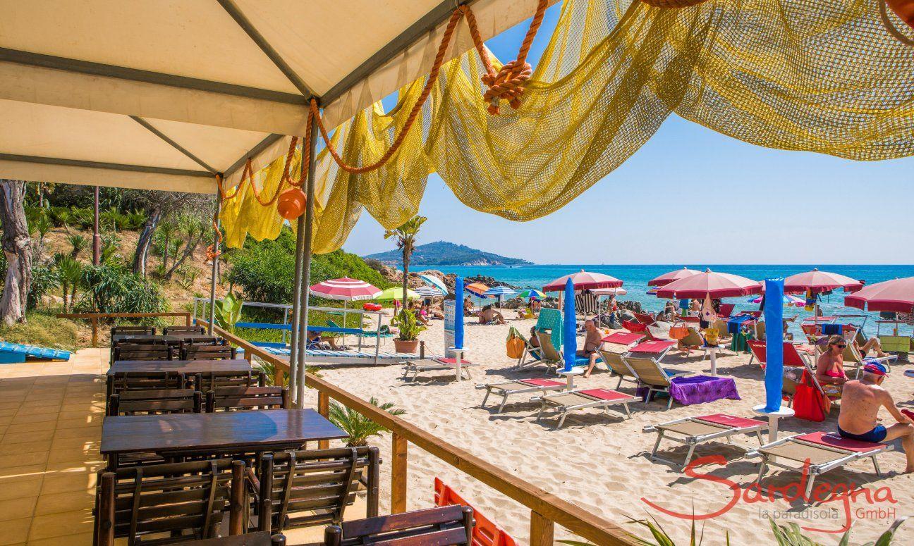 Strandbar im Sommer, Ogliastra