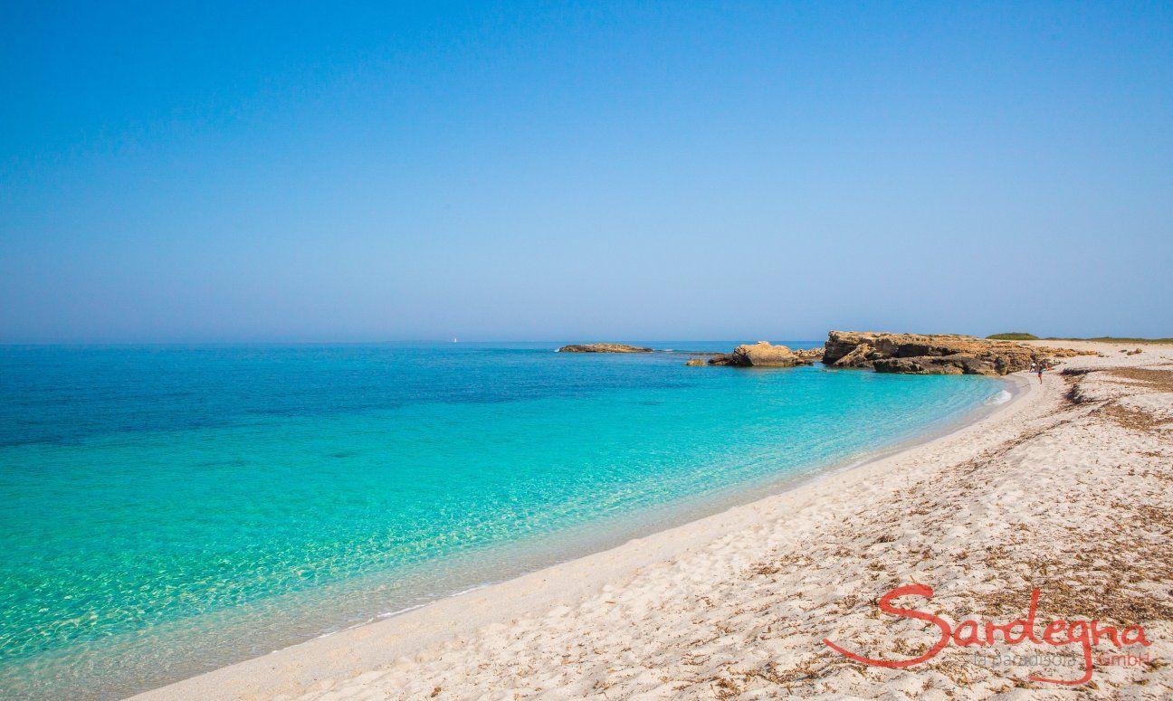 Der weiße Strand von Is Arutas nahe Oristano