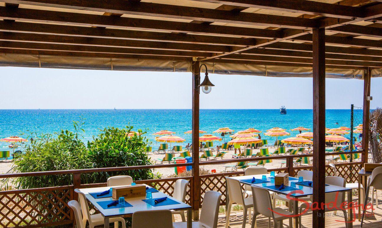 Restaurant direkt am Strand von Costa Rei