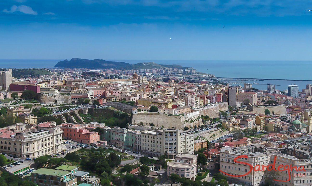 Cagliari Luftansicht der Altstadt