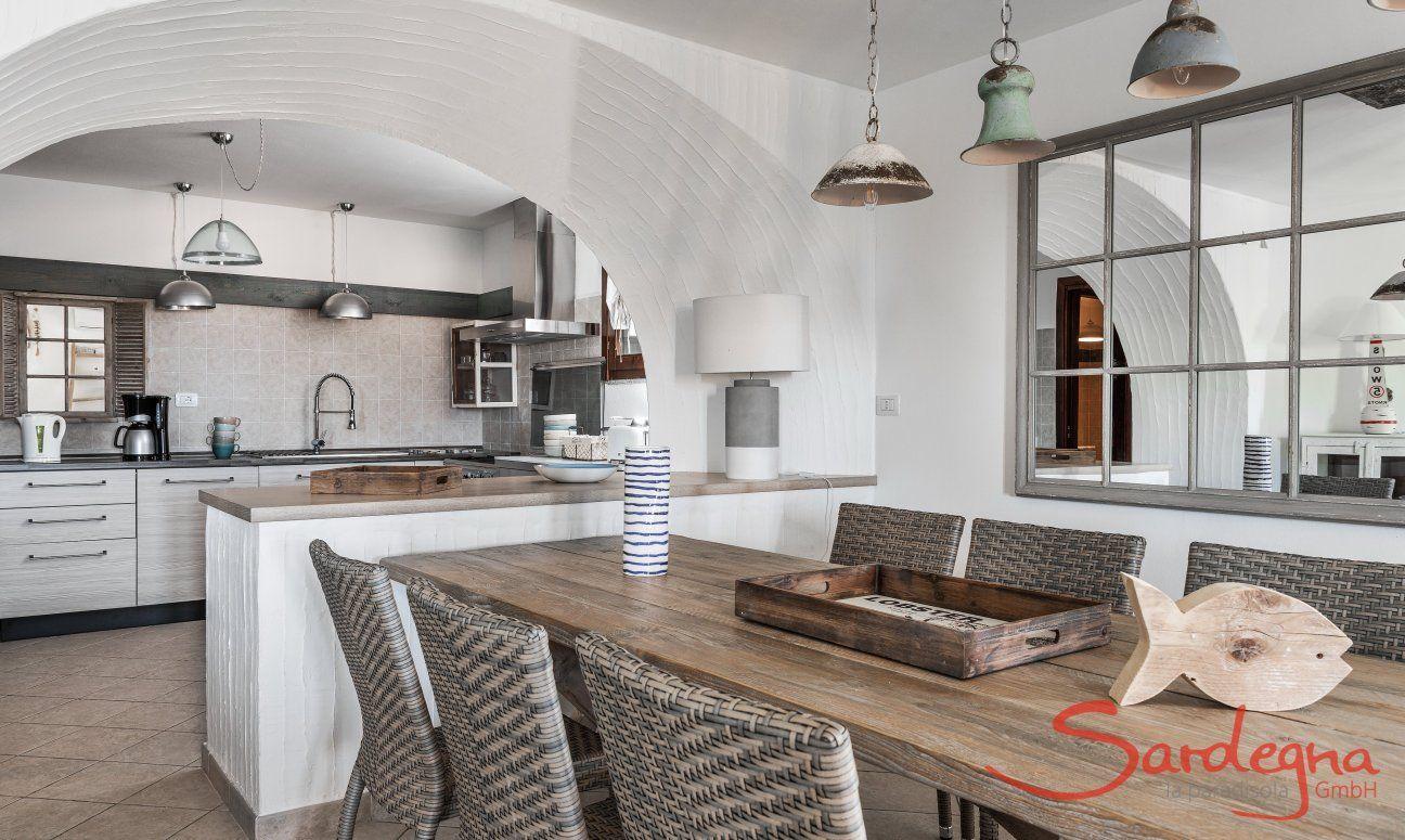 Küche, Villa Orchidea A, Costa Rei