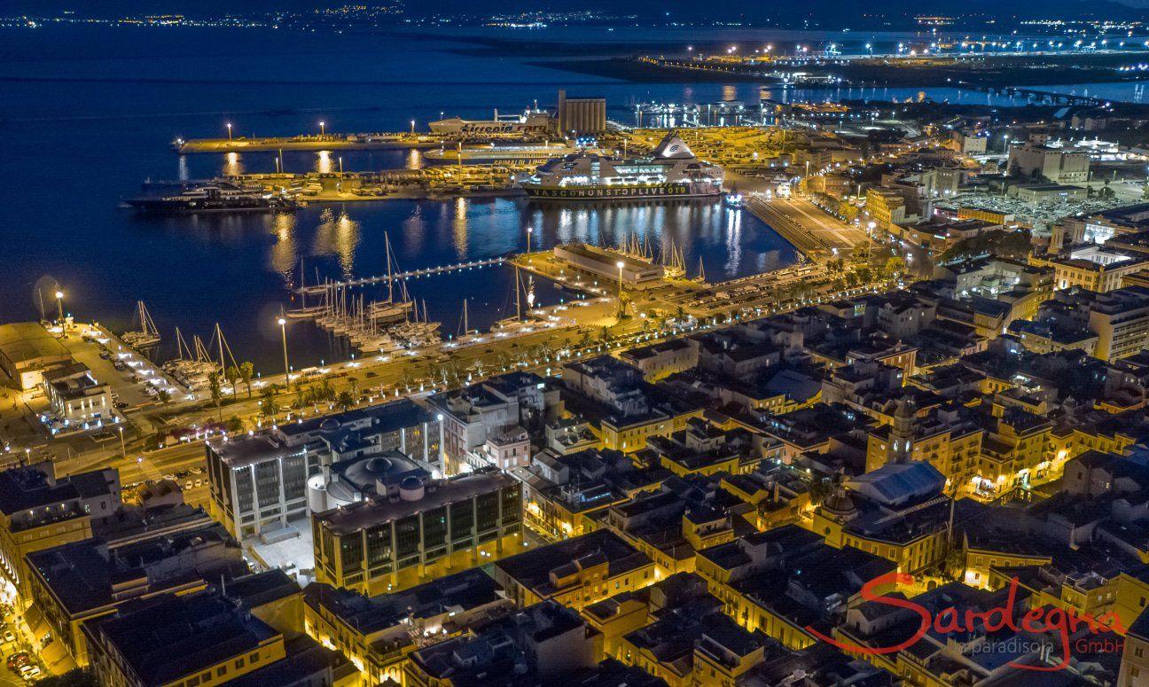 Cagliari by night, Südsardinien