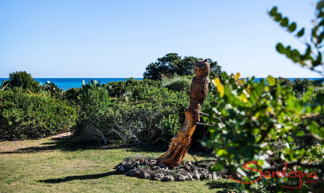 Statue Eule Villetta 3 Costa Rei